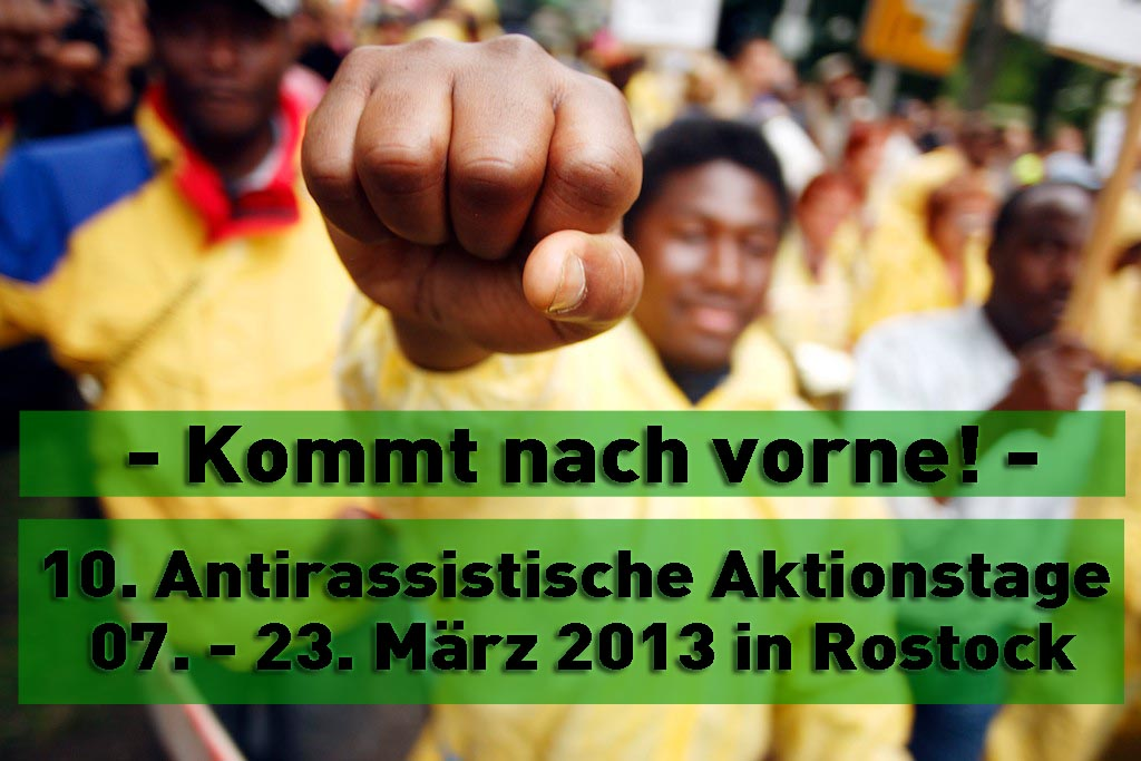 Protest gegen G8 Gipfel   Migrationstag